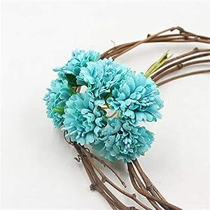 JONARO Marigold 6pcs/Bunch 3.5cm Mini Daisy Flower Bouquet Artificial Flower Wedding Decoration DIY Craft Home Decoration Accessories 25