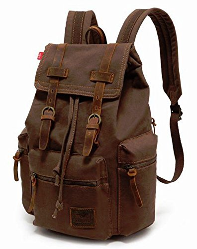 Men Women Canvas Backpack School Travel Hiking Bag - Syrup Joggers