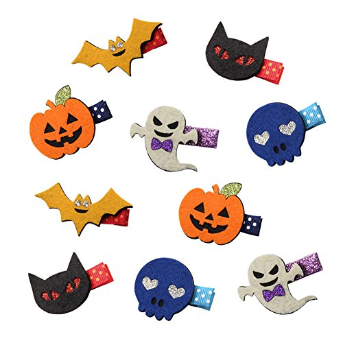 QtGirl Halloween Hairpins 10pcs Hair Clips Halloween Costume Accessories 2018