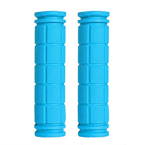 - Amrka Soft Rubber Bike Handle Bar End Grip for BMX MTB Cycle Road Mountain Bicycle Scooter (Sky blue)
