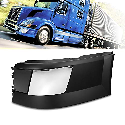 Side Bumper Left Driver Side With Trim Without Fog Light Hole Black Fit Volvo VNL 04-15