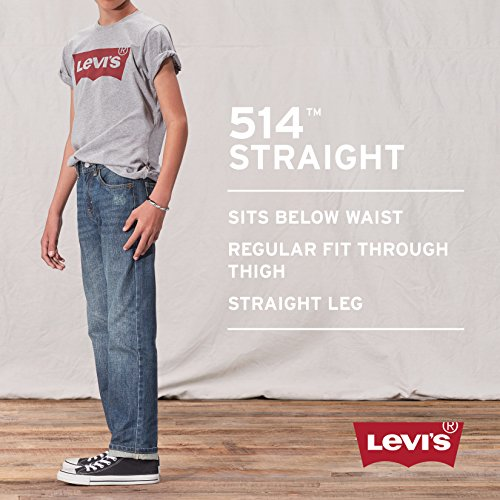 Levi's Boys' Toddler 514 Straight Fit Jeans, Blue Creek, 4T by Levi's (Image #5)