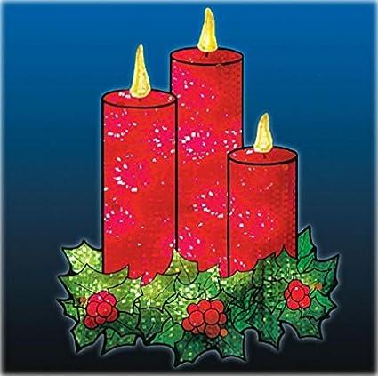 Amazon.com : Lighted Christmas Candles Window/Door Holiday ...