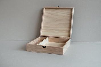 Caja de Madera (sin USB), Print & Caja de Unidad Flash USB Unidad Flash Personalizar Foto Caja Regalo, Boda Caja Caja de Prueba para fotografía, Photo Box (no Decor Natural): Amazon.es: Bricolaje