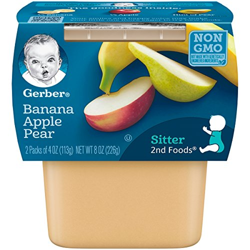 2nd Apple - Gerber 2nd Foods Bananas with Apples & Pears, 4 Ounce Tubs, 2 Count (Pack of 8)