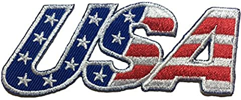 USA.American flag patch 9x3.5cm biker heavy metal Logo Jacket Vest shirt hat blanket backpack T shirt Patches Embroidered Appliques Symbol Badge Cloth Sign Costume (Prom Night 1980 Dvd)