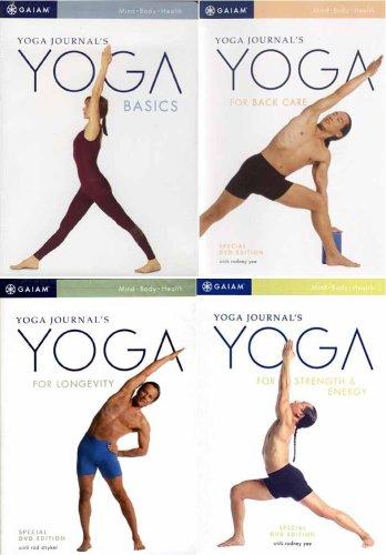 Yoga Journal's (4 Pack) Yoga for Back Care / Yoga For Longevity / Yoga Basics / Yoga for Strength and Energy