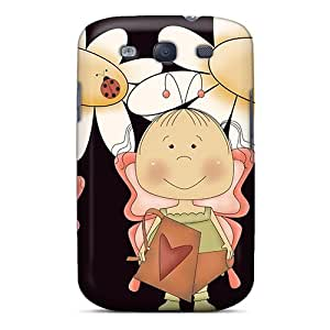Fashion FjHxM9172xiuno Case Cover For Galaxy S3(butterfly Girls Curtain Call)