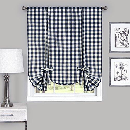 Achim Home Furnishings Buffalo Check Window Curtain Tie Up S