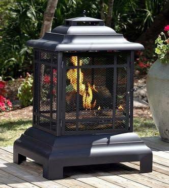 Al aire libre calefacción Chimenea Rectángulo Pagoda Patio jardín casa ideas regalo de Navidad: Amazon.es: Jardín