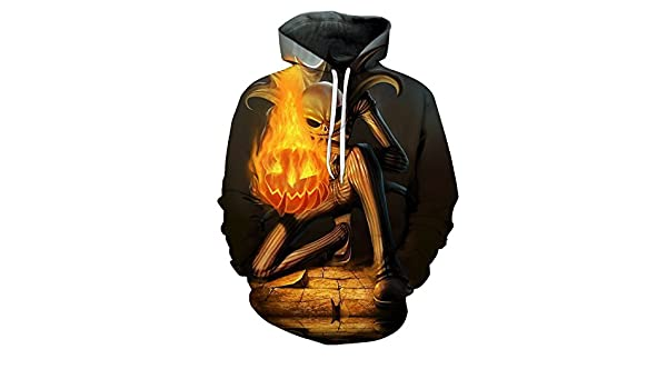 Jack Skellington fire Pumpkin 3D Sudaderas Sudaderas hombres Tracksuits Drop Shipping Comic Hooded Pullover Hoodie ZOOTOP… PkCiX