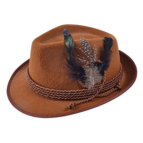 Brown Adults Oktoberfest Hat]()
