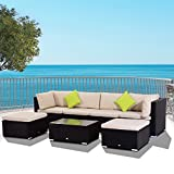 Best Outsunny Sofa Sets - Outsunny 7Pc Rattan Wicker Sofa Set Patio Furniture Review