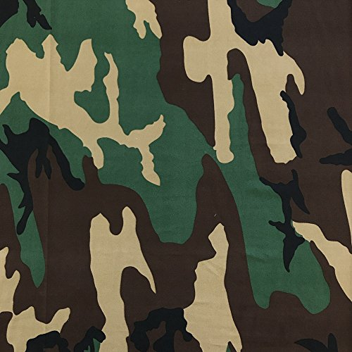 Jersey Knit Print Fabric - DTY Fabric Camouflage (6-1) Stretch Brushed Printed Jersey Knit Apparel 58/60