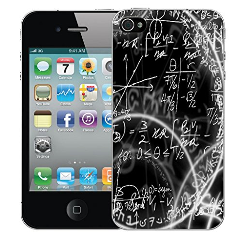 Mobile Case Mate iPhone 4 clip on Dur Coque couverture case cover Pare-chocs - algebra Motif avec Stylet
