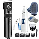 Iellvevie Corded Low Noise Pet Electric Clippers Grooming...