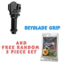 Beyblade BB-15 Standard Power Grip + Free 5 Piece Lot Random Parts Customize Pack includes Tips Energy Rings Spin Tracks Face Bolts - US Seller