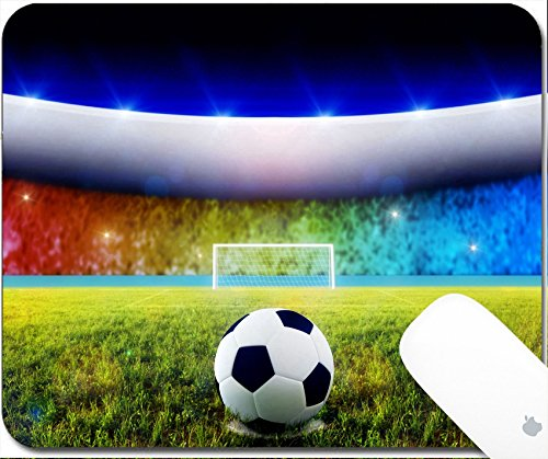 Luxlady Gaming Mousepad Soccer ball on penalty disk in the s