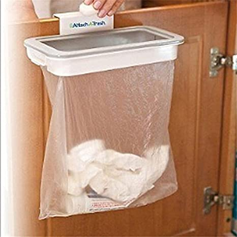 VADOLY Kitchen Cabinet Door Basket Hanging Trash Can Waste Bin Garbage Rack Tool