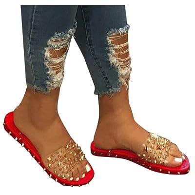 Sandals for Women Platform, Women\'s 2020 Rivets Comfy Flatform Sandal Shoes Summer Beach Travel Fashion Slipper Flip Flops: Clothing [5Bkhe1104608]