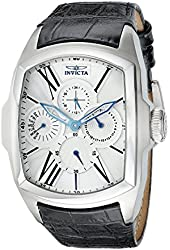 Invicta Men's 18897 Lupah Stainless Steel Watch with Black Leather Band