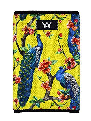YaYwallet Slim Credit Card Holder, Oriental Peacock Yellow, O/S