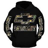 Chevrolet Duramax Camo Design Color Black Hoodie Hooded Sweatshirt (XL)