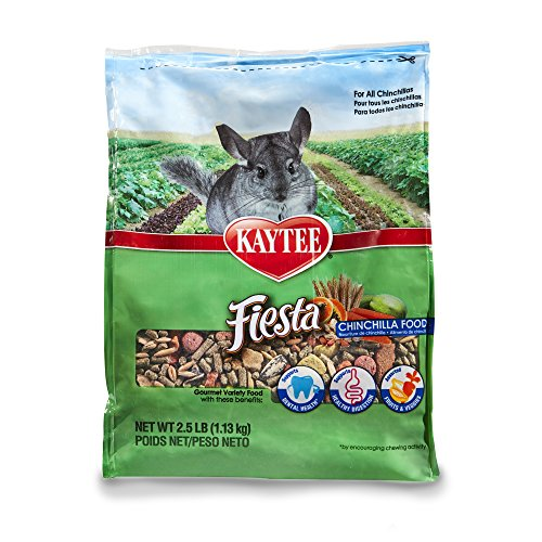 Food Chinchilla Timothy Complete - Kaytee Fiesta Chinchilla Food 2.5 pound bag