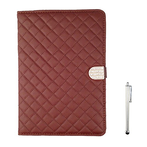 Apexel Gird Pattern Elegant Luxury Protective Case Pouch with Diamond Buckle for (Brn Buckle)