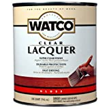 Watco 63041 Lacquer Clear Wood Finish, Quart, Clear Gloss