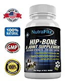Hip Bone and Joint Supplements for Dogs - Glucosamine Chondroitin for Dogs, MSM, Turmeric for Arthritis Pain Relief, Hip Dysplasia, ACLs - Best Dog Joint Supplement for Joint Support - 120 Tablets