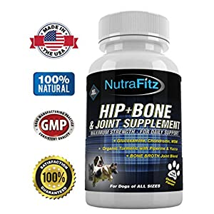Hip Bone and Joint Supplement for Dogs -Glucosamine Chondroitin for Dogs, MSM, Organic Turmeric - Arthritis Pain Relief, Hip Dysplasia, ACLs - Best Dog Joint Supplement for Joint Support - 120 Tablets 21