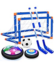VEPOWER Kids Toys for 5 Year Old Boys Hover Hockey Soccer Ball Set, Rechargeable & Battery Floating Air Soccer Ball with Led Light, Indoor Outdoor Sport Games Toys Gifts for Boys Girls Aged 3 4 5 6 7 8-12