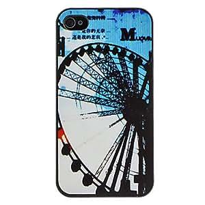 TY-Rueda de Ferris Caso duro del patrón para el iPhone 4/4S