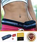 Running Belt, Treadmill Waist-belt Pouch for Men & Women for Storing iPhone, Keys, Wallets, ID Cards Secure during Workouts, Hiking, Marathon, Gym etc – Made of Water Resistant Elastic Stretch Material For Sale