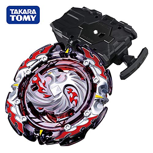 (Beyblade Burst Chouzetsu Booster B-131 Dead Phoenix.0.at. Beyblades Stater Set with B-78 Bey String Launcher Black High Performance Battling Top)