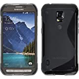 Silicone Case for Samsung Galaxy S5 Active - S-Style gray - Cover PhoneNatic + protective foils