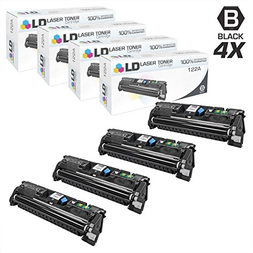LD Remanufactured Toner Cartridge Replacement for HP 122A Q3960A (Black, 4-Pack)