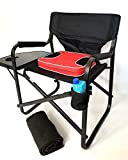 HEAVY-DUTY GRAND DADDY XL CAPTAIN Chair with UNIQUE REMOVEABLE SEAT CUSHION FOR EXTRA COMFORT, Side Table & Cup Holder-10 Years Warranty PRODUCT--SAME DAY SHIPPING