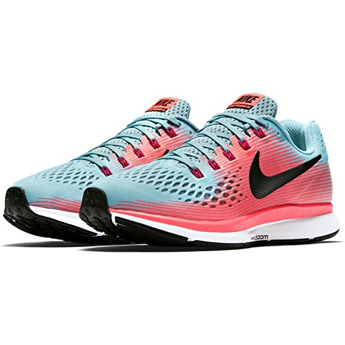 3fbb3e4c530 Galleon - NIKE Women s Air Zoom Pegasus 34 Running Shoe Mica Blue White Racer  Pink Sport Fuchsia Size 6.5 M US