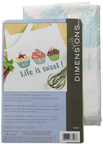 Dimensions Needlecrafts: Life is Sweet Stamped Cross-Stitch Apron ()