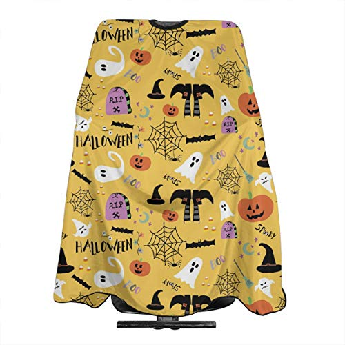 Halloween Ghost Pumpkin Salon Hair Cutting Cape Cloth Barber Hairdressing Wrap Haircut Apron Cloth Styling Accessory For Unisex