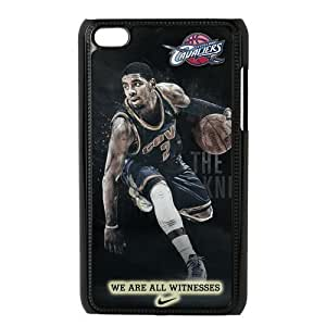Luckeverything Customize NBA Cleveland Cavaliers Kyrie Irving black plastic Fits and Protect Diy For Touch 4 Case Cover