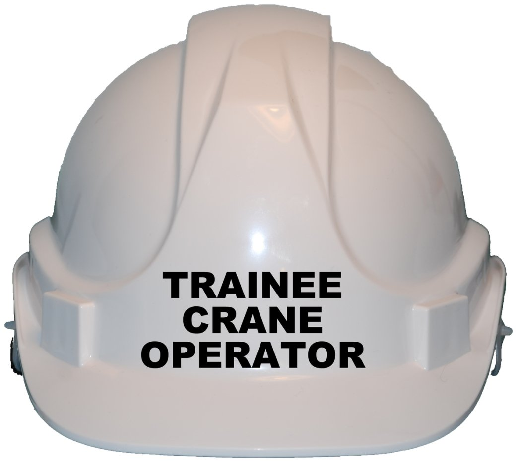 Trainee Crane Operator Children, Kids Genuine Hard Hat Safety Helmet With Chin Strap One Size Adjustable Suitable for 2-12 Years White Complies With EN397 Safety Standard by Acce Products