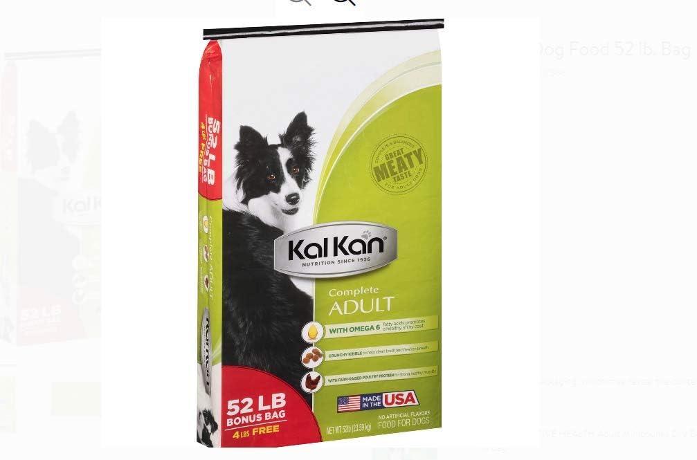 Amazon Com Pack Of 2 Kal Kan Complete Adult Dog Food 52 Lb Bag