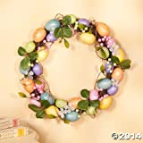 Pastel Egg Wreath - Easter Egg Door Decoration