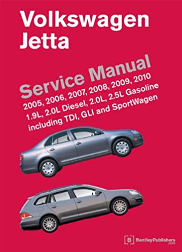 volkswagen jetta a5 service manual 2005 2006 2007 2008 2009 rh amazon com volkswagen jetta tdi 2009 owners manual vw jetta 2009 manual book