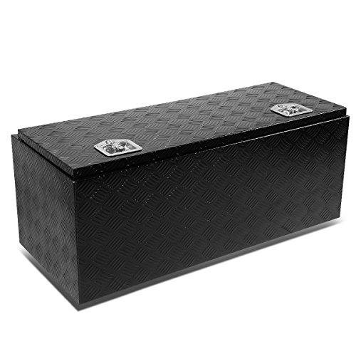 42″x18″x16″ Aluminum Pickup Truck Bed Trailer Key Lock Storage Tool Box (Black)