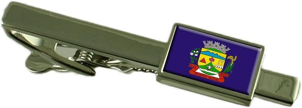 Monte Azul City Minas Gerais State Flag Tie Clip