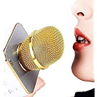 Attherate Handheld Wireless Microphone With Bluetooth Speaker For All IOS/Android Smartphones (Microphone For Kids Singing Colour May Vary- 1 pic)